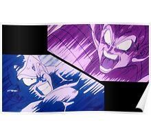 Dragon Ball Z - Goku vs Vegeta - Kamehameha vs Galick Gun - Mashup Poster