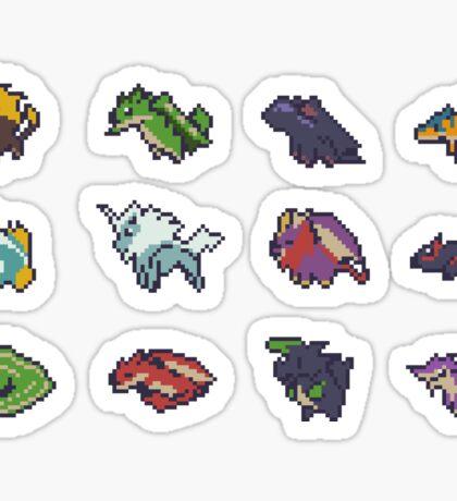Monster Hunter Pixel Art Stickers Sticker