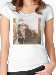 Ookami to Koushinryou - Spice and Wolf - Kraft Lawrence and Holo Women's Fitted Scoop T-Shirt