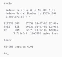 MS-DOS - PLEASE WAKE UP  Kids Clothes