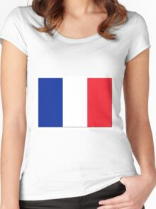 France Flag Shadow Women's Fitted Scoop T-Shirt