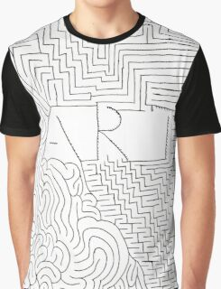 Black white hand painted typo zigzag pattern  Graphic T-Shirt