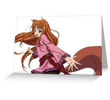 Ookami to Koushinryou - Spice and Wolf - Holo - TRANSPARENT (CUT RENDER) Greeting Card