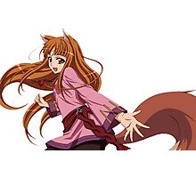 Ookami to Koushinryou - Spice and Wolf - Holo - TRANSPARENT (CUT RENDER) Photographic Print