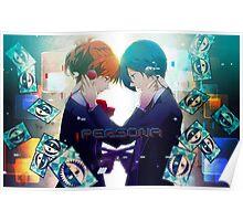 Persona - Makoto Yuki and Yukari Takeba - Guns (With Title) Poster