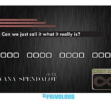 The Debt Card - #frivolous by Brandon Holsey