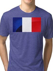 France Flag Circle Tri-blend T-Shirt