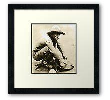 Old Miner Framed Print