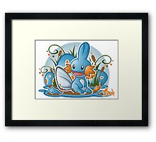 Pokemon - Mudkip - Render Cut Framed Print