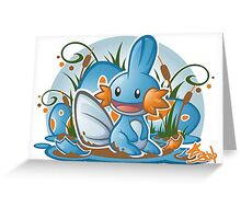 Pokemon - Mudkip - Render Cut Greeting Card