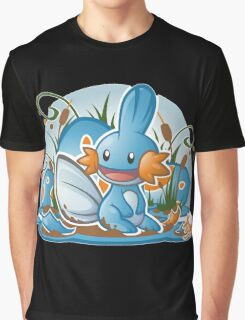 Pokemon - Mudkip - Render Cut Graphic T-Shirt