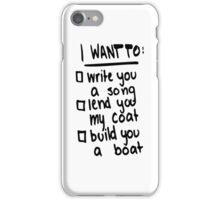 Made In The A.M. - I Want To Write You A Song iPhone Case/Skin