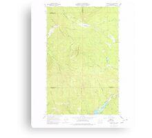 USGS Topo Map Washington State WA Aladdin Mtn 239765 1967 24000 Canvas Print