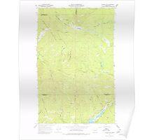 USGS Topo Map Washington State WA Aladdin Mtn 239765 1967 24000 Poster