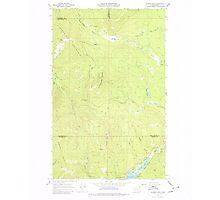 USGS Topo Map Washington State WA Aladdin Mtn 239765 1967 24000 Photographic Print