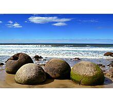 Moeraki Boulders in New Zealand Photographic Print