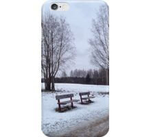 Two bench in the park iPhone Case/Skin
