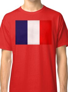 France Flag Dirty Classic T-Shirt