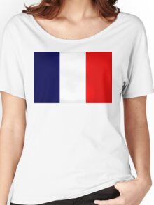 France Flag Dirty Women's Relaxed Fit T-Shirt