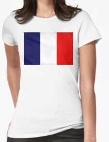 France Flag Dirty Womens Fitted T-Shirt