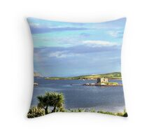 Rainbow at Ballinskellig's co kerry Throw Pillow