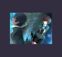"""Psycho-Pass - Akane Tsunemori and Shinya """"Kou"""" Kougami (Title Text) Unisex T-Shirt"""
