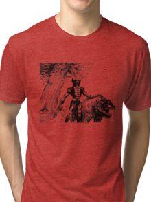 Wolverine Ink Illustration Tri-blend T-Shirt