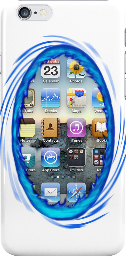 Portal iPhone Case iOS 6 by Gruntbuddy