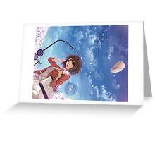 Saekano: How to Raise a Boring Girlfriend - Saenai Kanojo no Sodate-kata - Megumi Katou (text) Greeting Card