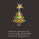 Christmas Card - Chocolate Wish Tree by © Karin Taylor