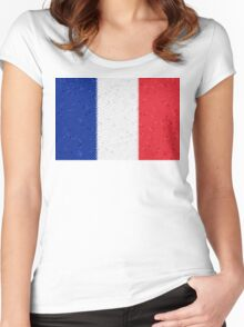 France Flag Mosaic Women's Fitted Scoop T-Shirt