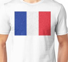 France Flag Mosaic Unisex T-Shirt