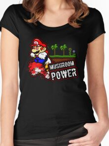 Mushroom Power Women's Fitted Scoop T-Shirt