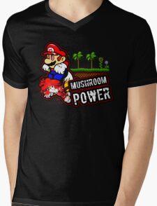 Mushroom Power Mens V-Neck T-Shirt