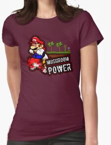 Mushroom Power Womens Fitted T-Shirt