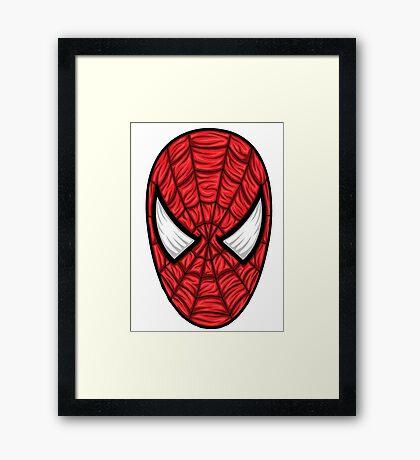 Spiderman Mask Framed Print