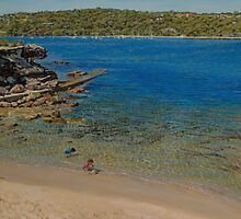 Playing on Balmoral Beach by Freda Surgenor