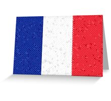 France Flag Mosaic Greeting Card