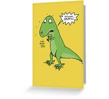Jurassic Battle. . . Greeting Card