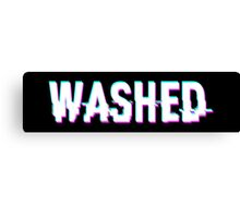 WASHED - GLITCH - TYPOGRAPHY - CLEAN Canvas Print