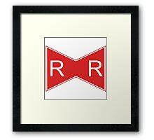 Red Ribbon Framed Print
