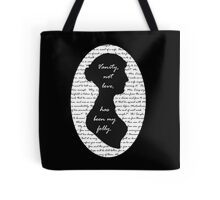 Jane Austen -- Pride and Prejudice Quote Design Tote Bag