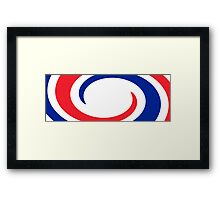France Flag Whirl Framed Print