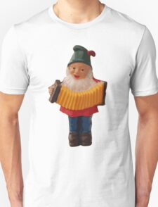 Gnome playing the concertina Unisex T-Shirt