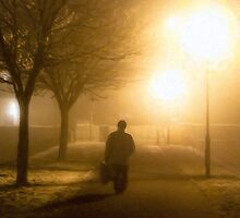 Going Home From Market - Galway Fog by Mark Tisdale