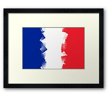 France Flag Cubic Framed Print