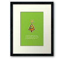 Christmas Card - Wild Lime Wish Tree Framed Print