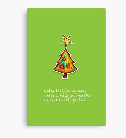 Christmas Card - Wild Lime Wish Tree Canvas Print