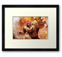 Zangief - Street Fighter - Supreme Framed Print