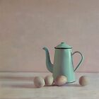 duck eggs and coffee pot by paulgrand